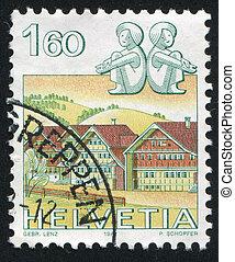 Gemini - SWITZERLAND - CIRCA 1982: stamp printed by...
