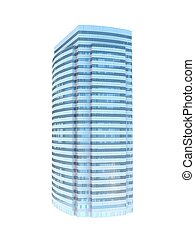 single skyscraper - single business skyscraper isolated on...