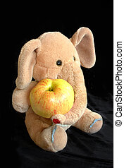 toy elephant with apple