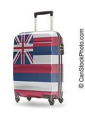 Suitcase with US state flag on it - Hawaii