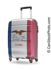 Suitcase with US state flag on it - Iowa