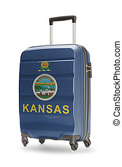 Suitcase with US state flag on it - Kansas