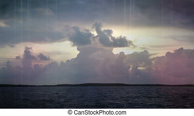 Fl Keys time lapse sky light leak - Abstract Florida Keys...