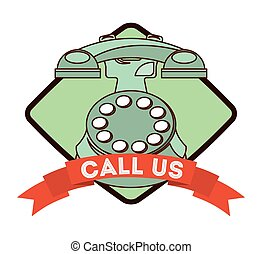 call us design, vector illustration eps10 graphic