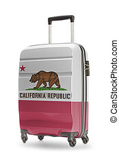Suitcase with US state flag on it - California