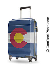 Suitcase with US state flag on it - Colorado