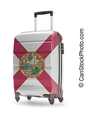 Suitcase with US state flag on it - Florida