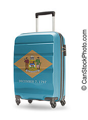 Suitcase with US state flag on it - Delaware