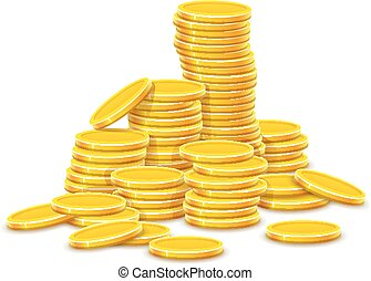 Gold coins cash money in hill rouleau - Gold coins cash...