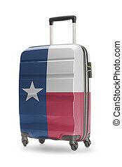 Suitcase with US state flag on it - Texas