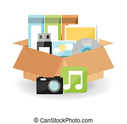 storage concept design, vector illustration eps10 graphic