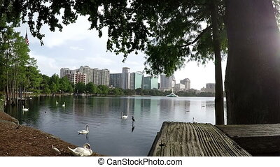 Lake Eola Orlando Florida Shot two - Orlando Florida Lake...