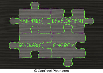 environmental awareness puzzle: sustainable development and...