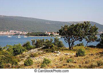Island of Krk. Croatia, Europe - Island of krk on the north...