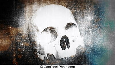 Skull horror non looping abstract - Non looping horror skull...
