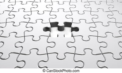 White Jigsaw Puzzle