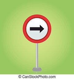 Traffic Signal - an isolated traffic signal on a green...