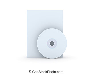 CD/DVD Cases - 3D Illustration.