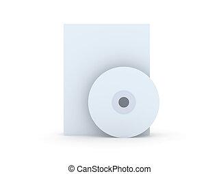 CD/DVD Cases - 3D Illustration.