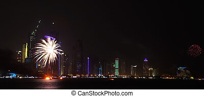 Qatar National Day fireworks in Doha