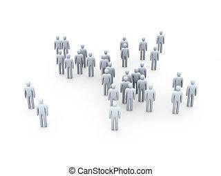 Icon Crowd - 3D Illustration.