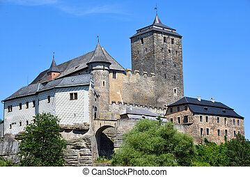 Large and strong gothic medieval castle