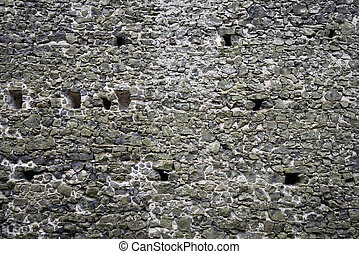 Ancient castle stone wall rampart texture