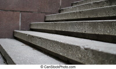 close up of man climbing the stairs