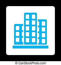 City Icon from Commerce Buttons OverColor Set - City icon...