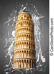 Leaning tower, Pisa, Italy - View of Leaning tower, Piazza...