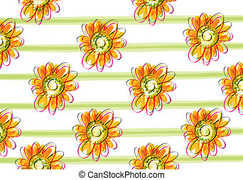 yellow daisy background