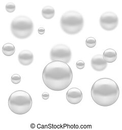 Set of Molecules Spheres - Abstract Molecules Design. Set...