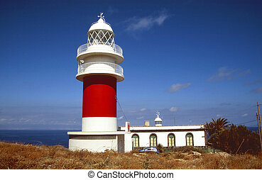 Lighthouse - Ancient lighthouse Faro De San Christobal near...