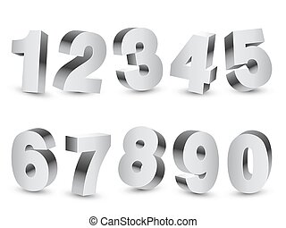 Three-dimensional Numbers - Collection of 10...