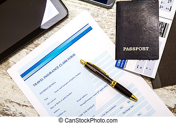 Filling Travel insurance claim form