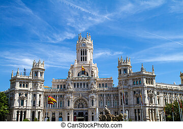 The Palace of Communications in Madrid, Spain