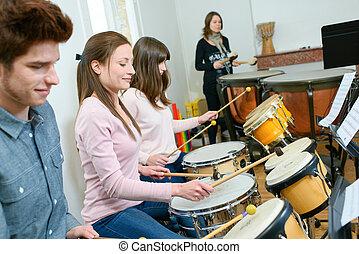 percussão, lição