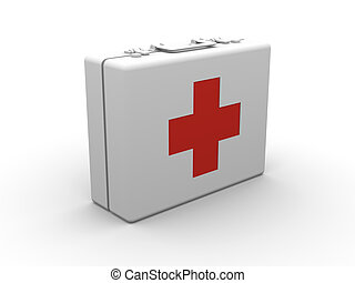 First aid case - 3D rendered Illustration.
