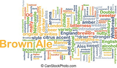 Brown ale background concept - Background concept wordcloud...