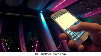 Writing a Message to Freind in Smartphone
