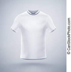 Mens T-Shirt - White mens t-shirt, eps 10