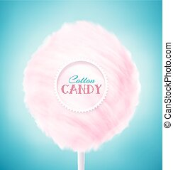 Cotton Candy - Pink cotton candy, eps 10