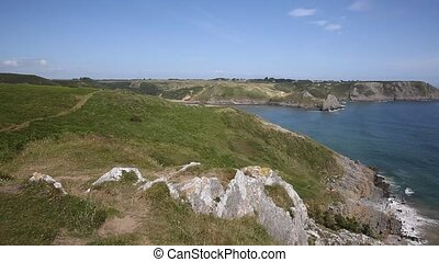 Coast view Three Cliff Bay Gower PA - Coast view to Three...