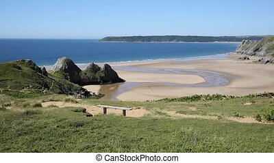 Welsh coast Three Cliffs Bay Gower - Welsh coast Three...