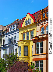 Luxury row houses of Washington DC