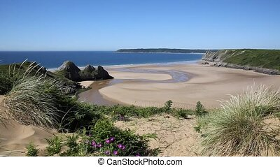 Best view Three Cliffs Bay Gower - Three Cliffs Bay south...