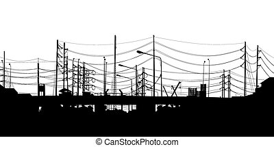 Urban foreground - EPS8 editable vector detailed silhouette...
