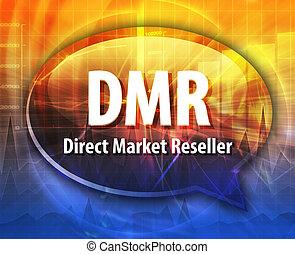 DMR acronym word speech bubble illustration - word speech...