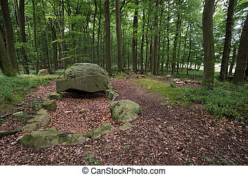 Megalithic Tomb Schmiedkow - An ancient megalithic tomb near...