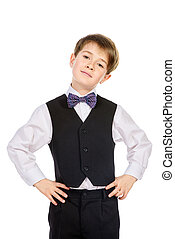 bowtie - Portrait of a boy in a suit Fashion kids Education...